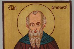 St Athanasius of Alexandria Icon Hand Painted Byzantine Orthodox