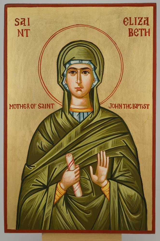St Elizabeth Icon Mother of St John the Baptist Hand Painted Orthodox