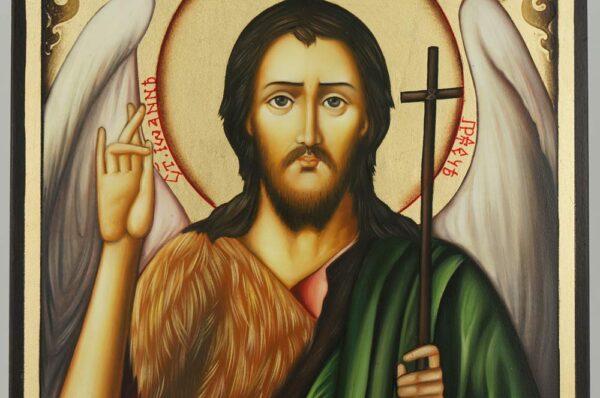 St John the Baptist Icon Hand Painted Byzantine Orthodox