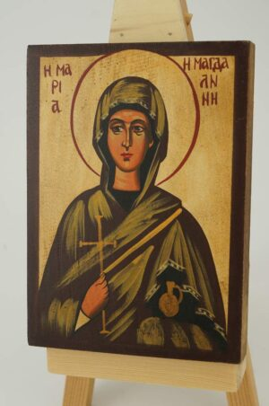 St Mary Magdalene Icon small Hand Painted Byzantine Orthodox