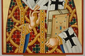 St Nectarios of Aegina Icon Hand Painted Byzantine Orthodox