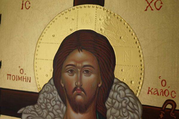 The Good Shepherd Icon Hand Painted Greek Orthodox Byzantine