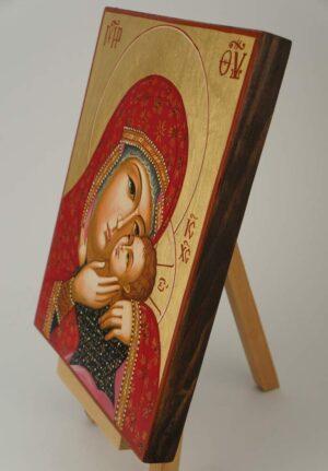 Theotokos Eleusa Icon Hand Painted Byzantine Orthodox