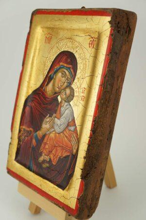 Theotokos Eleusa Icon Mount Athos Hand Painted Byzantine Orthodox