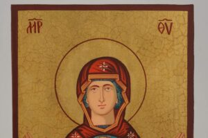Theotokos of the Sign Icon small Hand Painted Byzantine Orthodox
